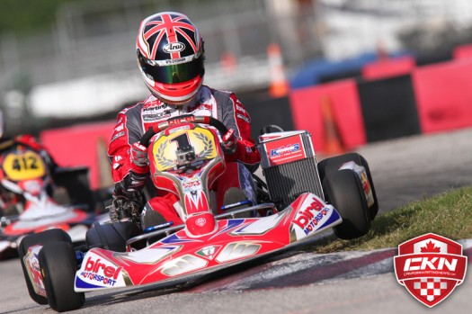 Ben Cooper, proudly wearing the #1 number plate at the Florida Winter Tour as defend Rotax DD2 Grand Finals Champion  (Photo by: Cody Schindel - INTL-KartingMedia.com)