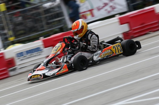 Coming off a great weekend in the TaG Junior category, Brazilian Pedro Cardoso will look to carry his momentum into the Rotax event (Photo credit: Cody Schindel / INTL-KartingMedia.com)