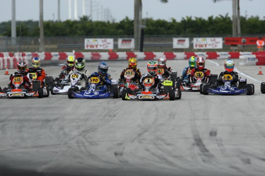 Team PSL Karting drivers were at the forefront of the Rotax DD2 Masters class, scoring two wins with Cristiano Morgado and two additional podiums with Scott Campbell and Rene Martinelli (Photo credit: Cody Schindel / INTL-KartingMedia.com)