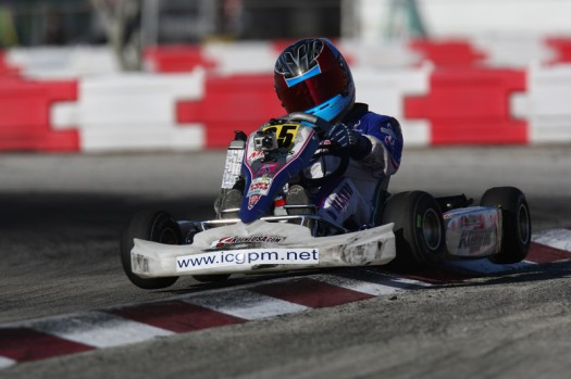 Nicholas d'Orlando scored his best FWT results to date with a sixth place effort in Vortex TaG Cadet (Photo INTL-KartingMedia.com)