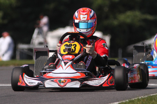 Chudleigh in ECKC karting action last season (Photo by: Cody Schindel / CKN)