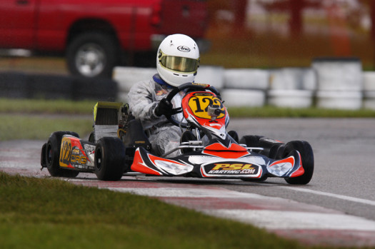 In Rotax Mini Max, Thierry Cote earned a third place podium finish in Sunday's final (Photo by: Cody Schindel/CanadianKartingNews.com)