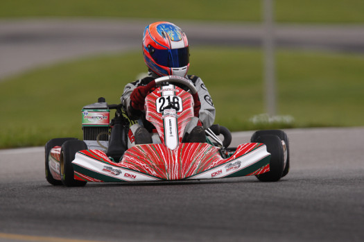 Jeffrey Kingsley swept the Rotax Junior action on Sunday taking the pole position, prefinal win and main event victory  (Photo credit: Cody Schindel/CanadianKartingNews.com)