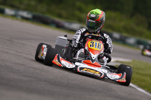 Pier-Luc Ouellette will make his first start in 2013 ECKC action, pulling double duty in both Rotax Senior and DD2 (Photo by: Cody Schindel/CanadianKartingNews.com)