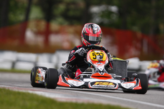 After claiming third and second place results in Mosport, Luc Sauriol will look to top the DD2 Masters podium in Goodwood (Photo by: Cody Schindel/CanadianKartingNews.com)