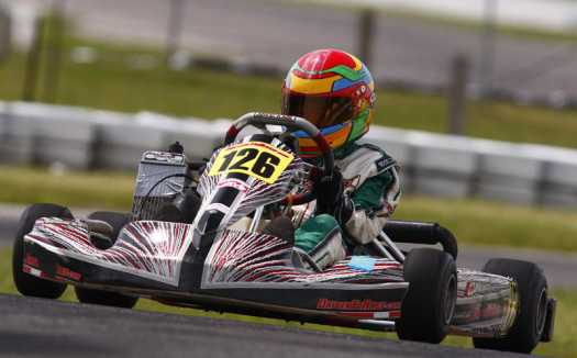 JP Hutchinson was the class of the ECKC Mini-Max field in race two at Mosport. (Photo by: Cody Schindel/CKN)