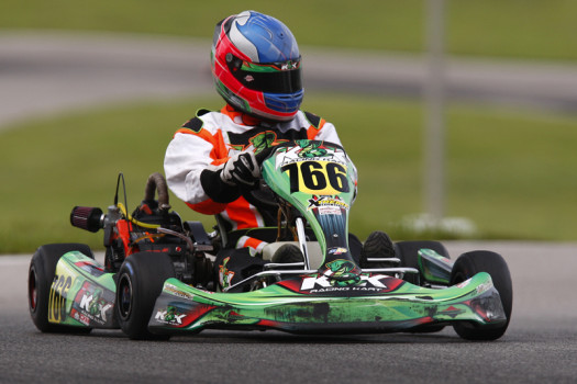 Jon Treadwell topped a 31-kart field in Briggs & Stratton Senior/Masters.  (Photo by: Cody Schindel/CKN)