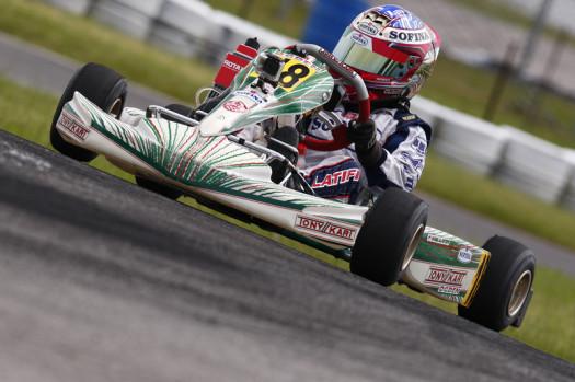 Matthew Latifi won the first race of the season in Rotax Micro-Max. (Photo by: Cody Schindel/CKN)
