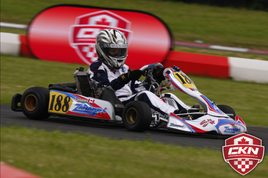 Charles Deshenes Mini-Max win was SH Kartings third victory of the day (Photo by: Cody Schindel/CKN)