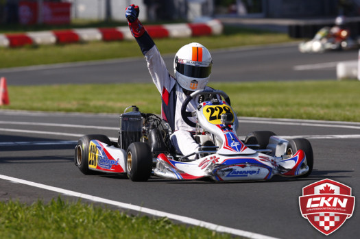 Alexander Lacroix scored his first Rotax Junior victory on Sunday at Goodwood. (Photo by: Cody Schindel/CKN)