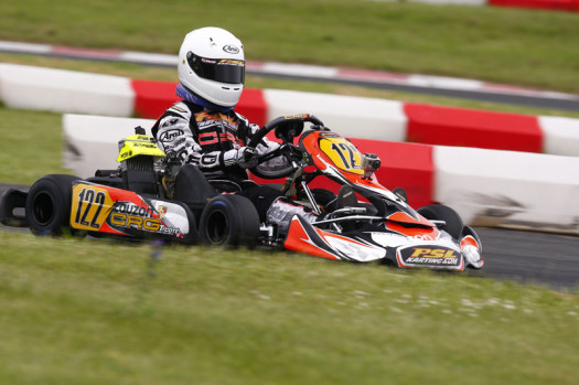 Thierry Cote finished fifth in the Mini Max main event for round three action (Photo by: Cody Schindel/CKN)