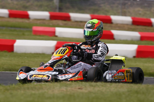 Pier-Luc Ouellette was victorious in his return to ECKC competition, taking top honours in Rotax DD2 on Sunday while placing second on Saturday (Photo by: Cody Schindel/CKN)