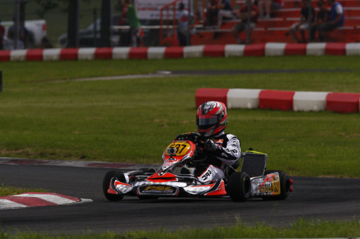 Luc Sauriol accounted for two top-fives for Team PSL Karting, including a podium result in the DD2 Masters category (Photo by: Cody Schindel/CKN)