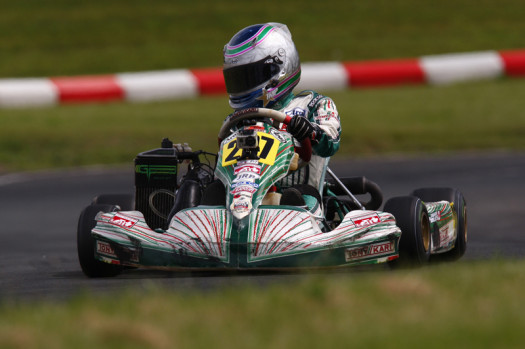 Taegen Poles showed the speed to run near the front in Rotax Junior  (Photo: Cody Schindel - CanadianKartingNews.com)