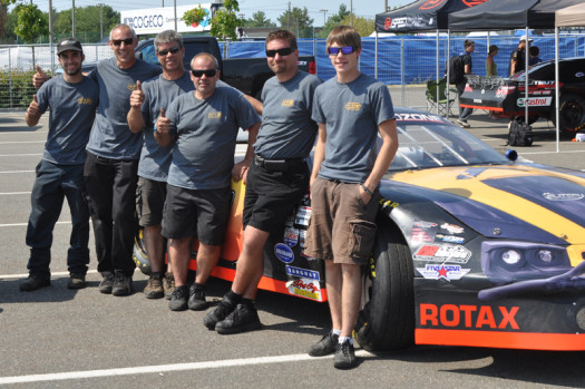 Bain and his Sportsman Quebec Series team at last year's GP3R. (Photo Courtesy: Bain Family)