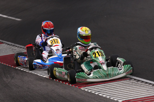 Rotax Junior pilot Anthony Tolfa battled in the final and came home with a third place podium result  (Photo credit: Cody Schindel/CanadianKartingNews.com)