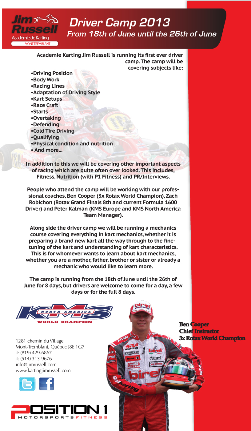 Jim Russell Karting Academy Announces Summer Driver Camp