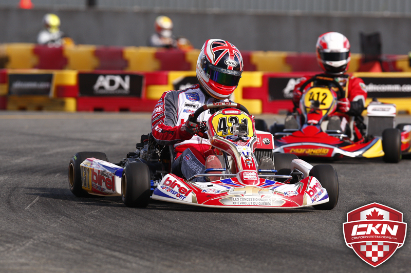 Coupe du quebec cooper scores another in rotax dd2 luc for Go kart montreal exterieur