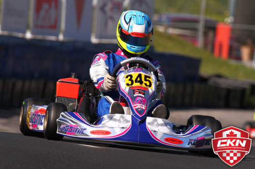 Johnny Flute recently competed on a Kosmic Kart at the Canadian Championships (Photo by: Cody Schindel/CKN)