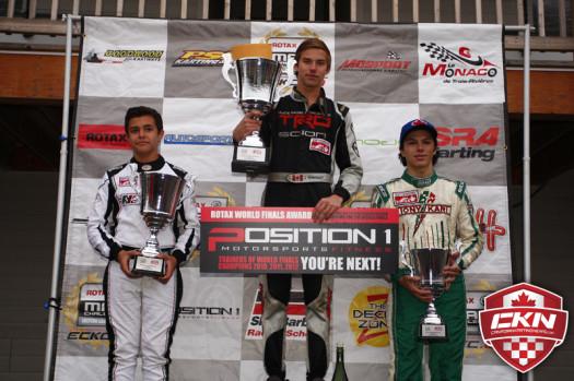 Rotax Junior Championship Podium  (Photo by: Cody Schindel/CKN)