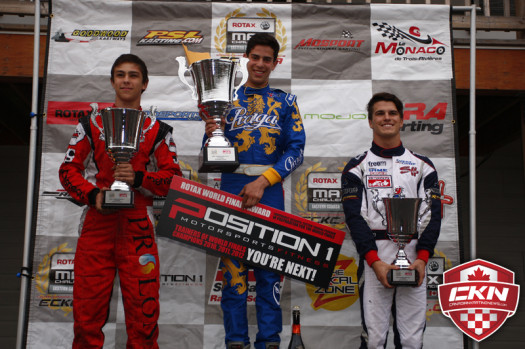 Rotax Senior Championship Podium  (Photo by: Cody Schindel/CKN)