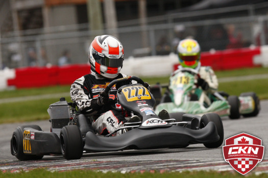 Christophe Paquet swept the day for his second straight ECKC Rotax Junior win. (Photo by: Cody Schindel/CKN)