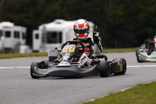After earning the 2013 Canadian National Rotax Junior Vice-Championship title a few weeks ago, Christophe Paquet scored a breakout win in ECKC competition on Sunday (Photo credit: Cody Schindel/CanadianKartingNews.com)