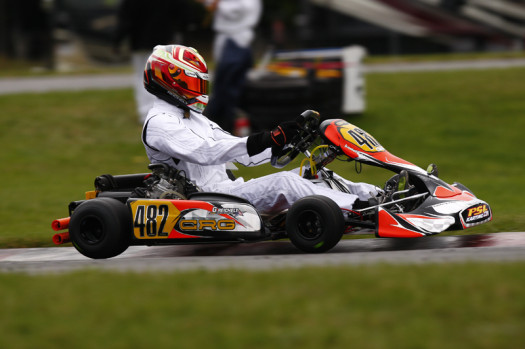 Gavin Reichelt scored a win and a second place podium result in Mont-Tremblant during his first weekend in the Rotax DD2 category (Photo credit: Cody Schindel/CanadianKartingNews.com)