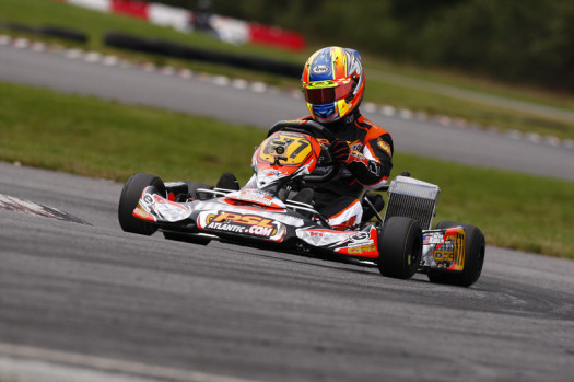 US Rotax DD2 Masters National Champion Alan Rudolph was victorious in Coupe du Quebec action on Saturday (Photo credit: Cody Schindel/CanadianKartingNews.com)