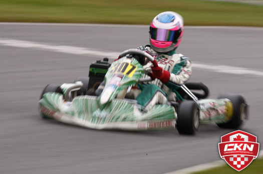 Arika White continues to improve in Rotax Senior and closed the series out strong  (Photo Cody Schindel - CanadianKartingNews.com)