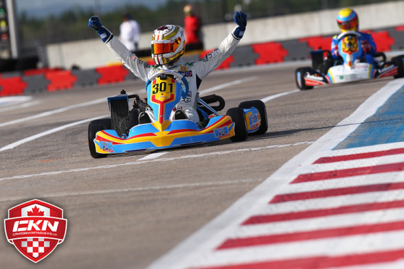 Eckc familiar face back on top at icar in rotax senior for Go kart interieur quebec