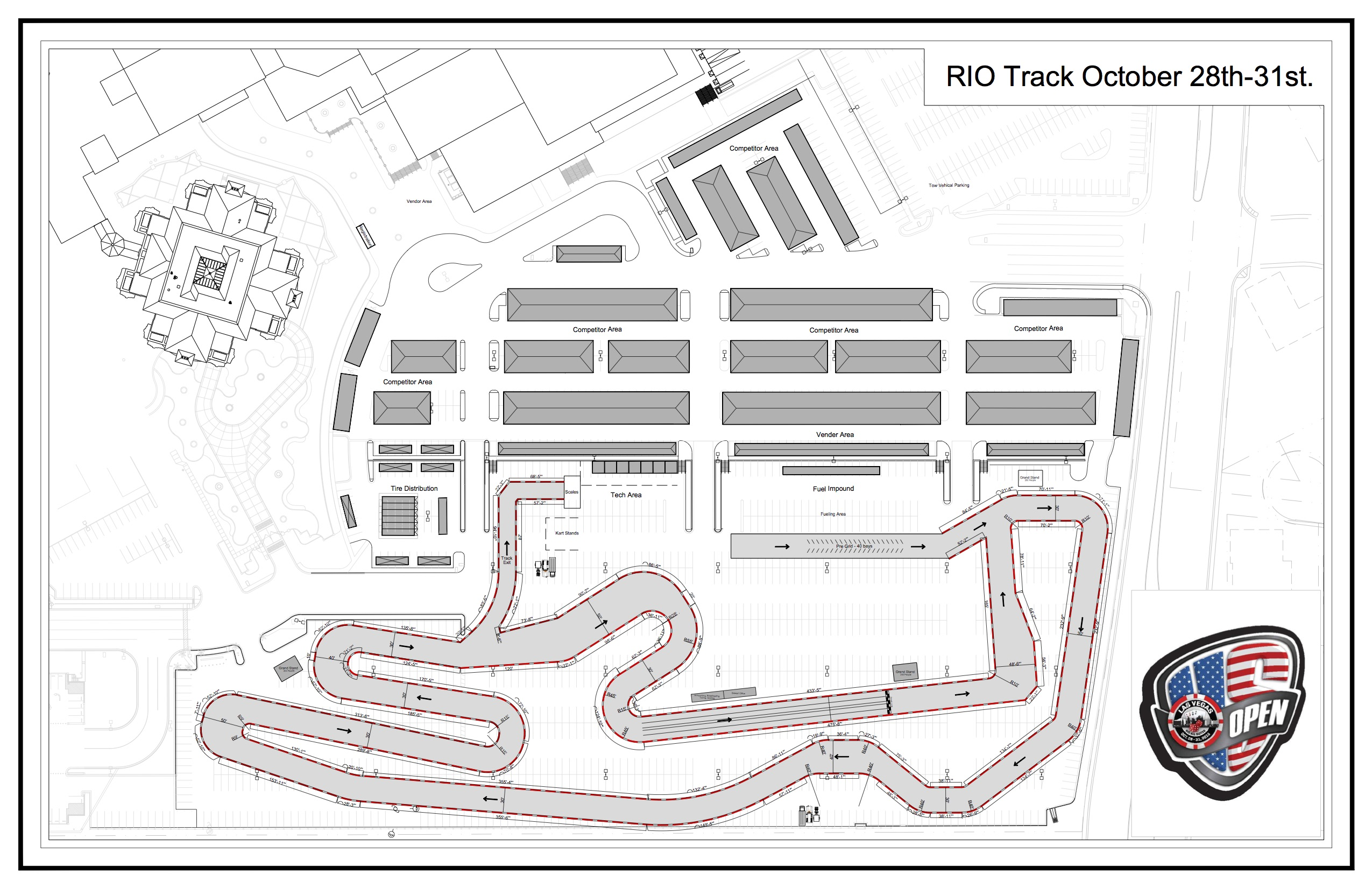 MaxSpeed Releases Track Layout For US Open Of Las Vegas CKN - Us open map